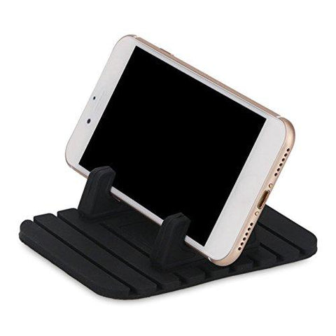 Leoie Anti Slip Car Silicone Pad Dash Mat Cell Phone Car Mount Holder Stands Bracket Universal for Phone Samsung iPhone and GPS Navigation Black-Home-Leoie-Helmetdon