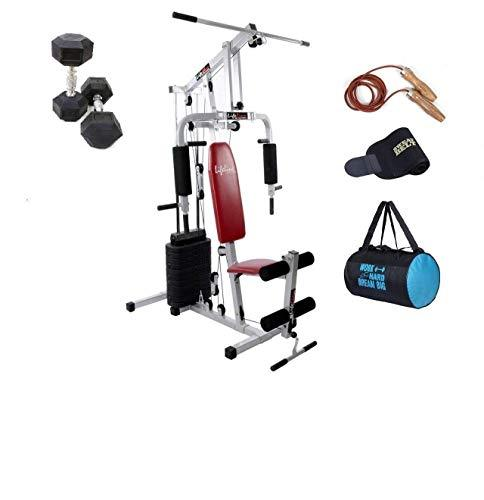 Lifeline home gym equipment set with dumbles 5 kg pair for home