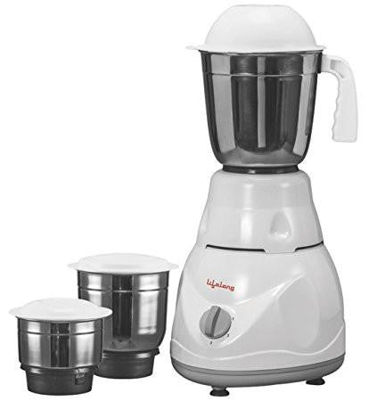 Lifelong Power Pro 500-Watt Mixer Grinder with 3 Jars (White/Grey)-Home & Kitchen-Life Long-Helmetdon
