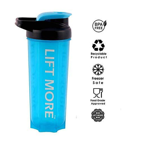 Lift More Protein Shaker Bottle For Gym & Sports (700ml)-Health and Beauty-LIFT MORE-Helmetdon