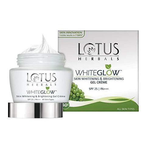 Lotus Herbals Whiteglow Skin Whitening And Brightening Gel Cream, SPF-25, 40g-Beauty-Lotus-Helmetdon