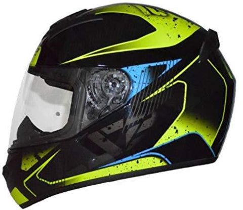 LS2 FF352 Flicker Black Blue Yellow Full Face Helmet-Automotive Parts and Accessories-LS2-Helmetdon