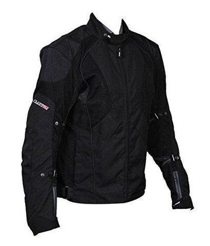 Ls2 jacket with reflective tape ( Black, Large )-Sports-LS2-Helmetdon