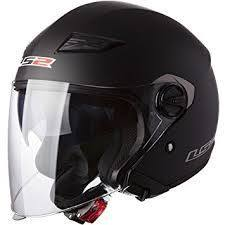 LS2 OF 569 Matt Black Open Face Helmet-Helmets-LS2-L-Helmetdon
