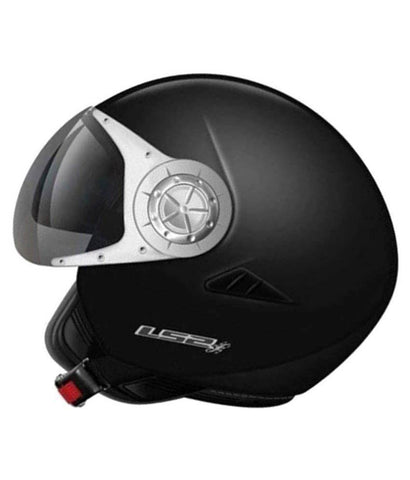 LS2 OF545 Tomcat Matt Black Open Face Helmet With Dual Visor-Helmets-LS2-L-Helmetdon