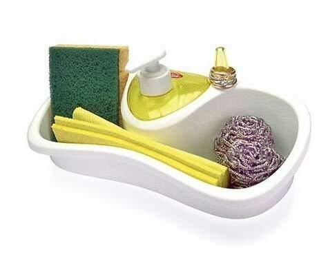 Lukzer 1 Pc Sink Organizer Drainer Stand With Sponge Holder And Soap D Helmet Don