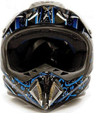 Medium : Typhoon Helmets Adult Off Road Dirt Bike ATV Motocross Helmet - DOT Rated - Splatter ( Medium )-Automotive Parts and Accessories-Typhoon Helmets-Helmetdon