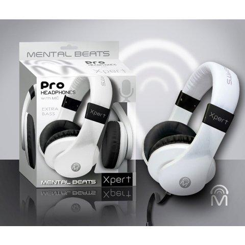 Mental Beats 61857 Mental Beats Xpert Pro Headphone, White-CE-Mental Beats-Helmetdon