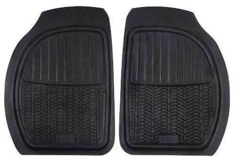 Michelin 009071 2 Channels Front Rubber Mat-Automotive Parts and Accessories-Michelin-Helmetdon