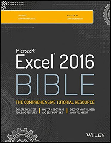 Microsoft Excel 2016 Bible: The Comprehensive Tutorial Resource-Books-TBHPD-Helmetdon