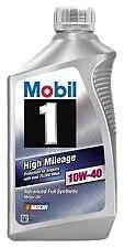Mobil 1 103536 10W-40 High Mileage Motor Oil - 1 Quart (Pack of 6)-CE-Mobil 1-Helmetdon
