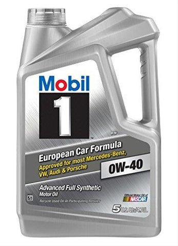 Mobil 1 120760 Synthetic Motor Oil 0W-40, 5 Quart-Automotive Parts and Accessories-Mobil 1-Helmetdon