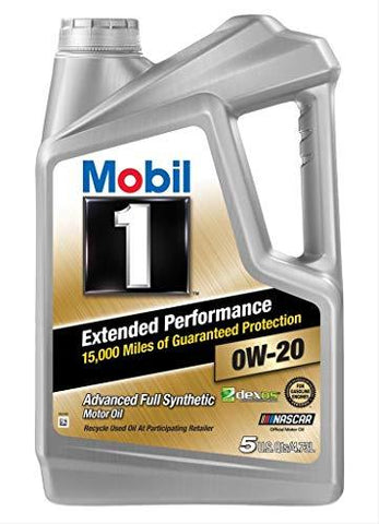Mobil 1 120903 Extended Performance 0W-20 Fully Synthetic Oil for Cars (4 L)-CE-Mobil 1-Helmetdon