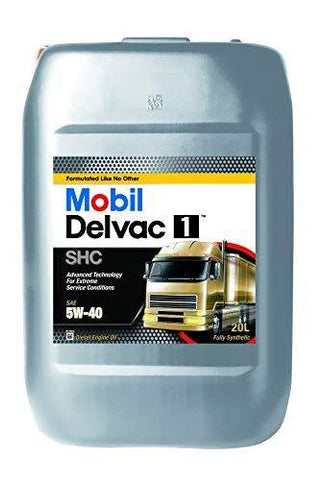 Mobil 1 41543 Mobil Delvac 1 5W40, 20 Liter-Automotive Parts and Accessories-Mobil 1-Helmetdon