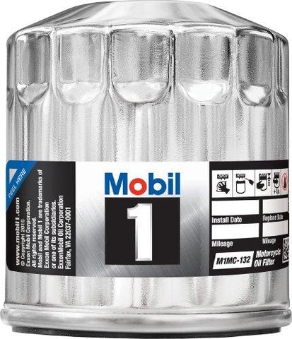 Mobil 1 M1MC-132 Chrome Motorcycle Oil Filter-Automotive Parts and Accessories-Mobil 1-Helmetdon