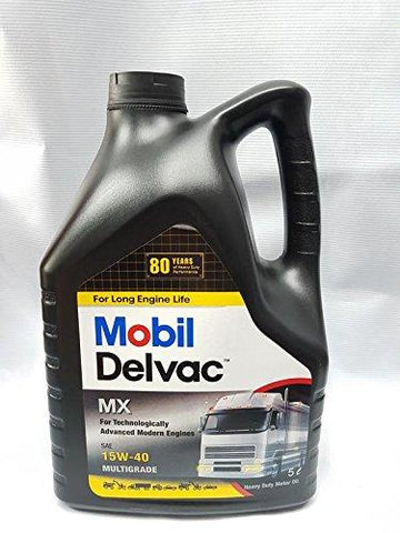 Mobil 1 MObil Delvac Mx Diesel Engine Oil for All Diesel Cars - Pack of 5L-Automotive Parts and Accessories-Mobil 1-Helmetdon