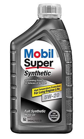 Mobil Super 112911 5W-20 Synthetic Motor Oil - 1 Quart (Pack of 6)-CE-Mobil 1-Helmetdon
