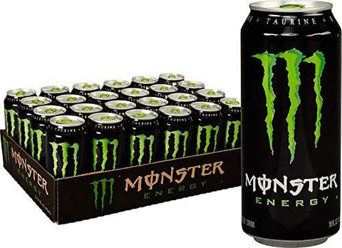 Monster Energy Drink, Green, Original, 16 Ounce 3 Cases of 24 Cans-Beauty-Monster-Helmetdon