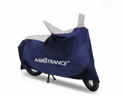 Mototrance Sporty Blue Bike Body Cover For Hero Glamour-Mototrance-Helmetdon