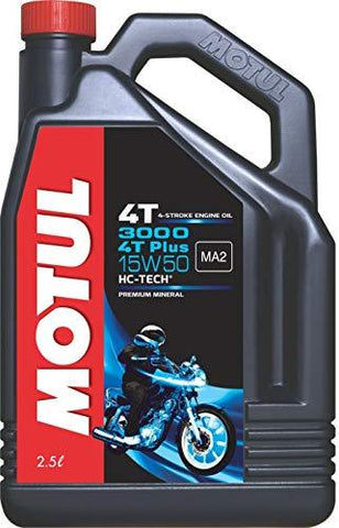 MOTUL 3000 Plus 15W50 4T 2.5LTRS Recommended for Royal Enfield-Automotive Parts and Accessories-MOTUL OIL-Helmetdon