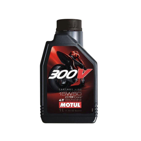 Motul 300V 15W50 Fully Synthetic Petrol Engine Oil for Racing Bikes (1 L)-Lubricant-Motul-1 L-Helmetdon