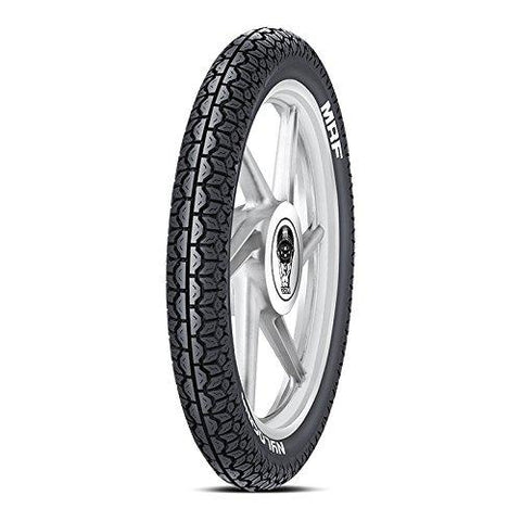 MRF Nylogrip PLUS 3.00-17 50N Tube-Type Bike Tyre, Rear-Automotive Parts and Accessories-MRF-Helmetdon