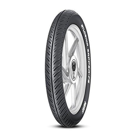 MRF Nylogrip Zapper-FS 80/100-18 47P Tubeless Bike Tyre, Front-Automotive Parts and Accessories-MRF-Helmetdon