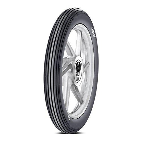 MRF Rib 2.75-18 42P Tube-Type Bike Tyre, Front-Automotive Parts and Accessories-MRF-Helmetdon