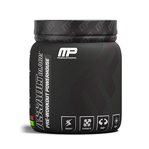 Muscle Pharm Assault Black Label 30 Servings Fruit Punch-Health and Beauty-MusclePharm-Helmetdon