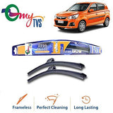 myTVS Frameless Wiper Blade for Maruti Alto K10 All Year (18 x 16)-Automotive Parts and Accessories-myTVS-Helmetdon