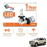 myTVS HB4 LED Bulb 40W 6000K Super Bright Headlight Kit-Toyota Fortuner Old-CE-myTVS-Helmetdon