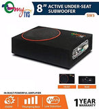 "myTVS SW2 8"" Car Underseat Basstube Active Subwoofer with Bulit-in MOSFET Power Supply Amplifier-CE-myTVS-Helmetdon"