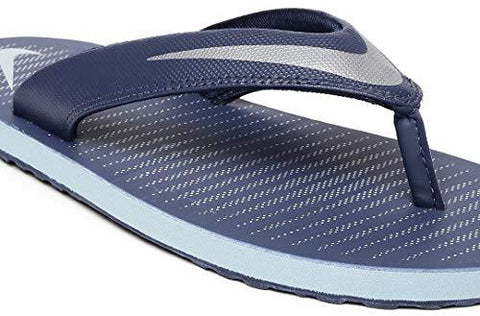 online store 3f63a 3ccd6 Nike Men's Loyal Blue/Chrome and Blue Grey Chroma Thong 5 Flip Flops  (833808-400)