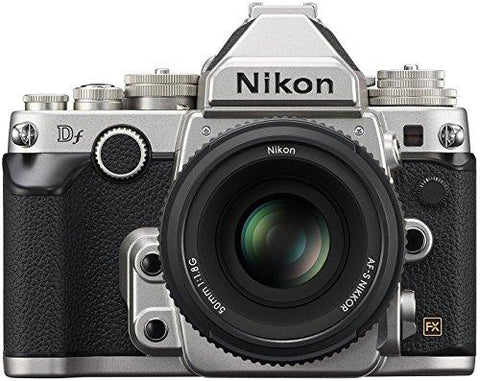 Nikon 1528 DF 16.2 MP CMOS FX-Format Digital SLR Camera (Black) with AF-S Nikkor 50mm f/1.8G Lens, 4GB Card and Camera Bag-CE-Nikon-Helmetdon