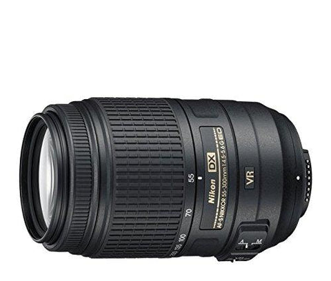 Nikon AF-S DX Nikkor 55-300mm F/4.5-5.6G ED VR Telephoto Zoom Lens for Nikon DSLR Camera-CE-Nikon-Helmetdon