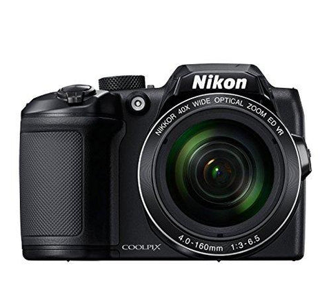 Nikon Coolpix B500 16MP Point and Shoot Digital Camera with 40x Optical Zoom (Black) + HDMI Cable + 16 GB SD Card + Carry Case-CE-Nikon-Helmetdon