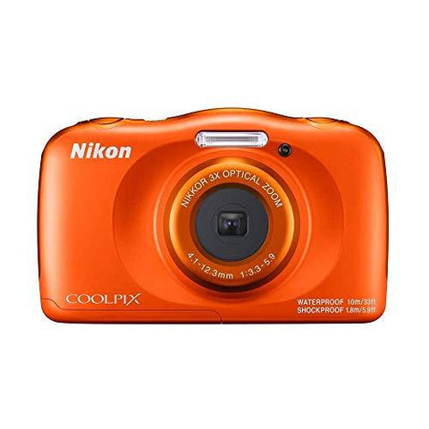 Nikon Coolpix W150 13.2 MP Waterproof Camera with Full HD Recording with 16GB Card and Camera Case (Orange)-Electronics-Nikon-Helmetdon