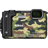 Nikon W300 Waterproof 30m & 16.05 Megapixel Digital Camera(Camouflage) with 16 GB Card & Carry case-CE-Nikon-Helmetdon