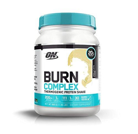 Optimum Nutrition Burn Complex Protein, 1.95 lb, Vanilla Latte (Vanilla Latte)-Health and Beauty-Optimum Nutrition-Helmetdon