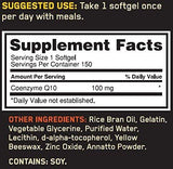 Optimum Nutrition COQ10 Soft Gels, 100 mg, 150 Count-Health and Beauty-Optimum Nutrition-Helmetdon
