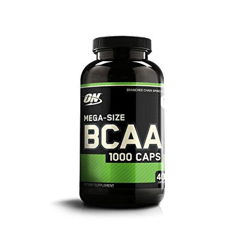 Optimum Nutrition (ON) BCAA Branched Chain Amino Acids 1000 mg - 400 Capsules-Health and Beauty-Optimum Nutrition-Helmetdon