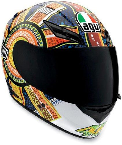 Orange/Blue , Large : AGV K3 Dreamtime Helmet - Large/Orange/Blue-AGV-Helmetdon