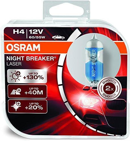 Osram H4 Laser Night Breaker Duo Box 64193NBL-HCB Light (60/55W, 12V, 2 Bulbs)-Bulbs-Osram-Helmetdon