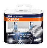 Osram H4 P64193 Night Breaker Unlimited Duo Box (12V, 60/55W)-Bulbs-Osram-Helmetdon