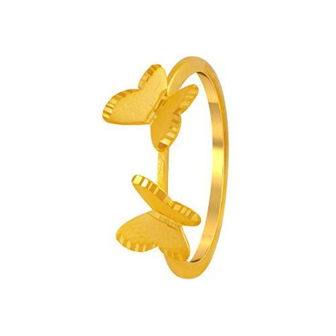 P. C. Chandra Jewellers 22k (916) Yellow Gold Ring for Women-Jewelry-P.C. Chandra Jewellers-Helmetdon