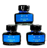Parker Quink Ink Bottle Blue-9000016675(Pack of 3)-Office Product-Parker-Helmetdon