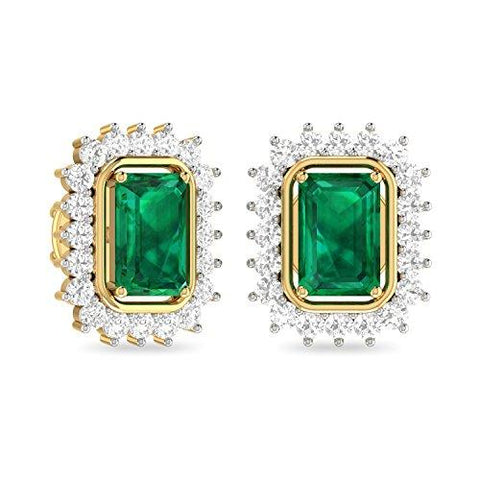 PC Jeweller The Ishbel 18KT Yellow Gold, Diamond and Gemstone Earring for Women-Jewelry-PC Jeweller-Helmetdon