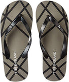 Peter England Men's Black Flip Flops Thong Sandals - 9 UK/India (43EU)-Shoes-Peter England-Helmetdon