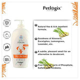 Petlogix Tick and Flea Wash Shampoo for Cats, Dogs and Other Pets Sulphate Free Cleanser for All Type of Coats (400g)-Pet Products-Petlogix-Helmetdon