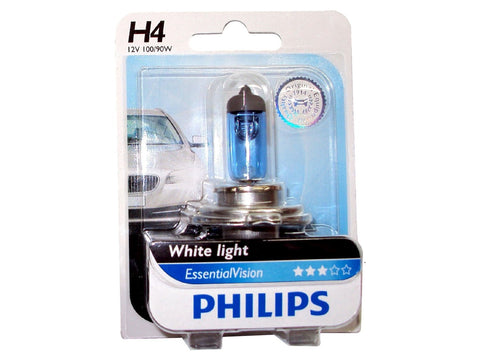 Philips 12569EVB1 H4 Essential Vision Headlight bulb (12V, 100/90W)-Bulbs-Philips-Helmetdon